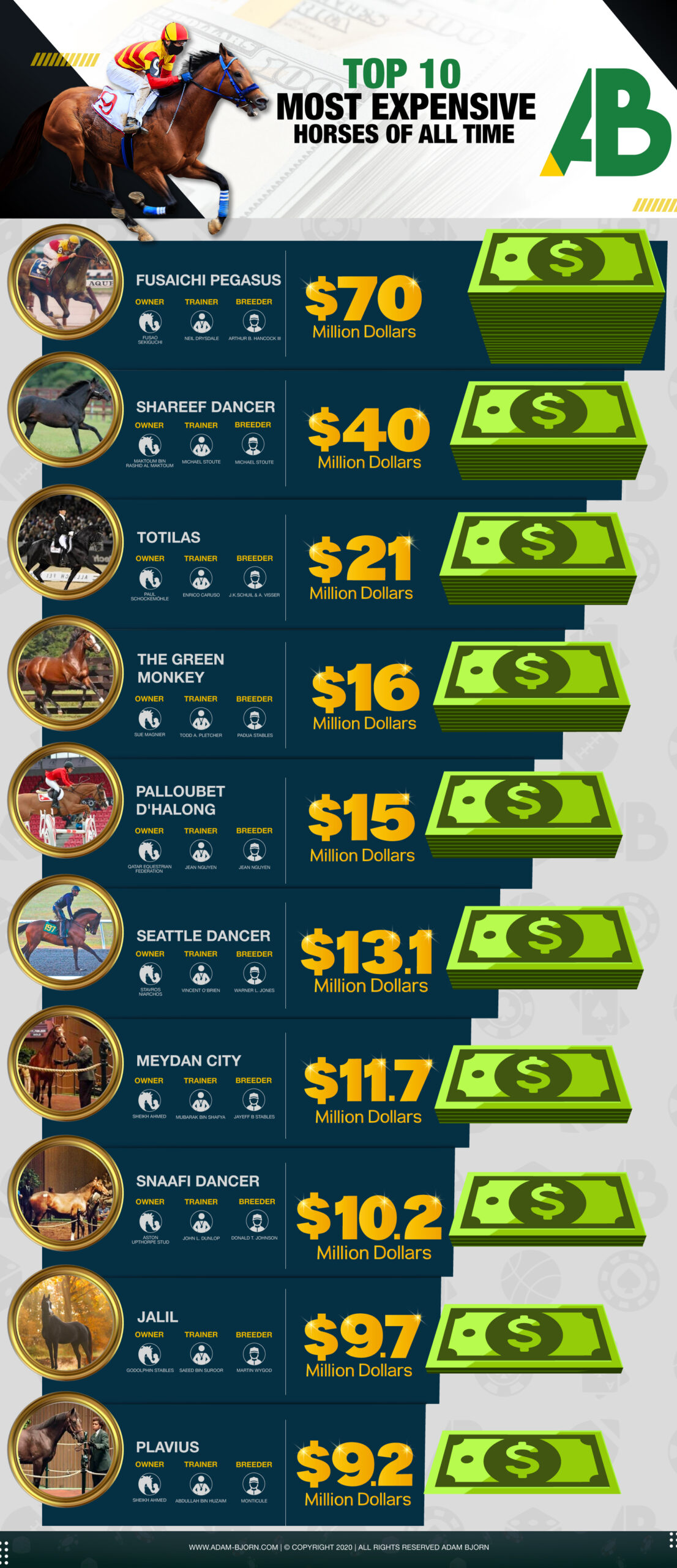 Most Expensive Horses of all Time